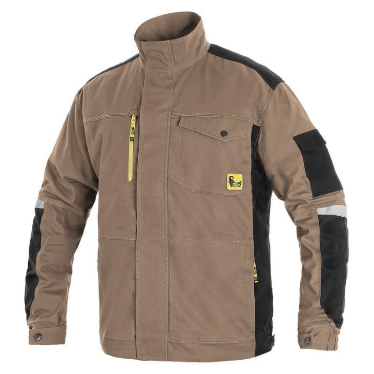 Куртка робоча CXS STRETCH, бежевий/чорний, пл. 250г/м2