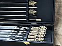 """Шампура подарочные ручной работы """"Дикий кабан"""" и разборной мангал """"Лось"""" в кейсе из эко-кожи, фото 2"""