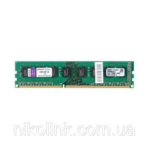 Память Kingston DDR3 8GB PC3-12800U (1600Mhz) (KVR16N11/8_KVR16N11H/8), б/у