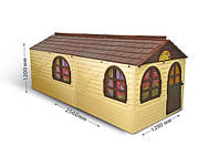 Ігровий будиночок пластиковий Doloni 02550/22 зі шторками 256*129*120 см