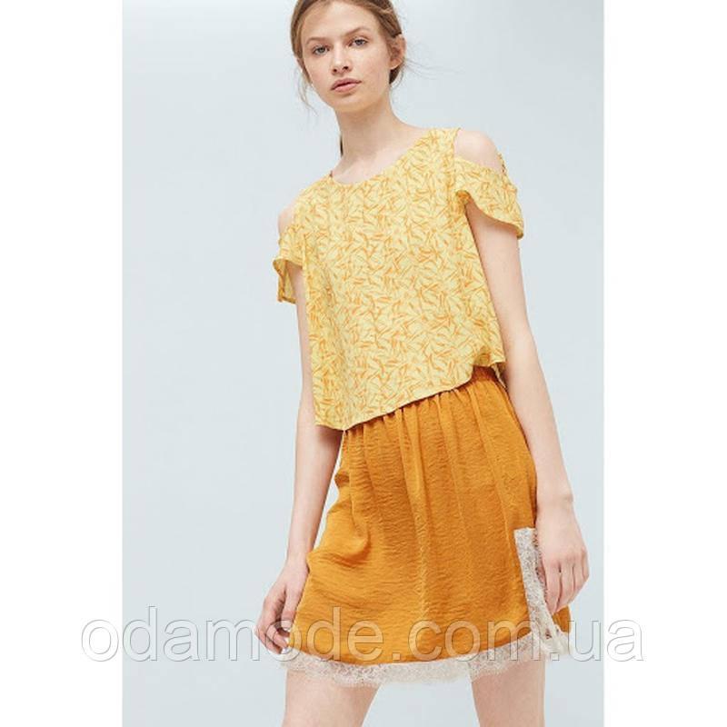 Блуза женская  mango в цветочный принт