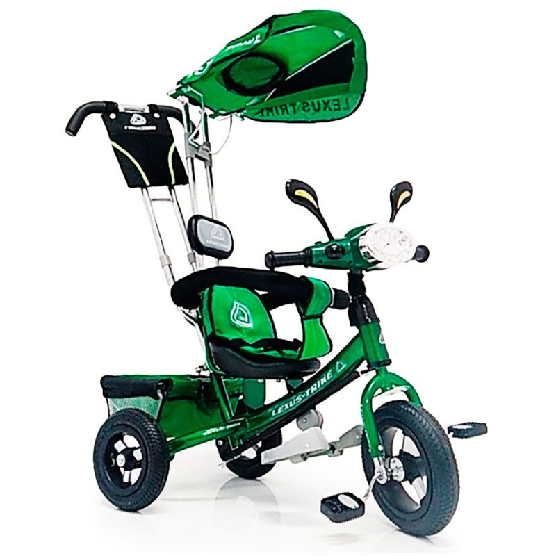 Велосипед трехколесный с родительской ручкой WS862AW-M (светящаяся фара) Надувные колеса12\10