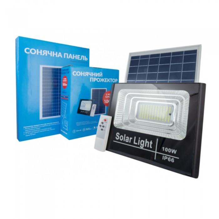 Прожектор на солнечных батареях Solar Light 100W уличный с пультом