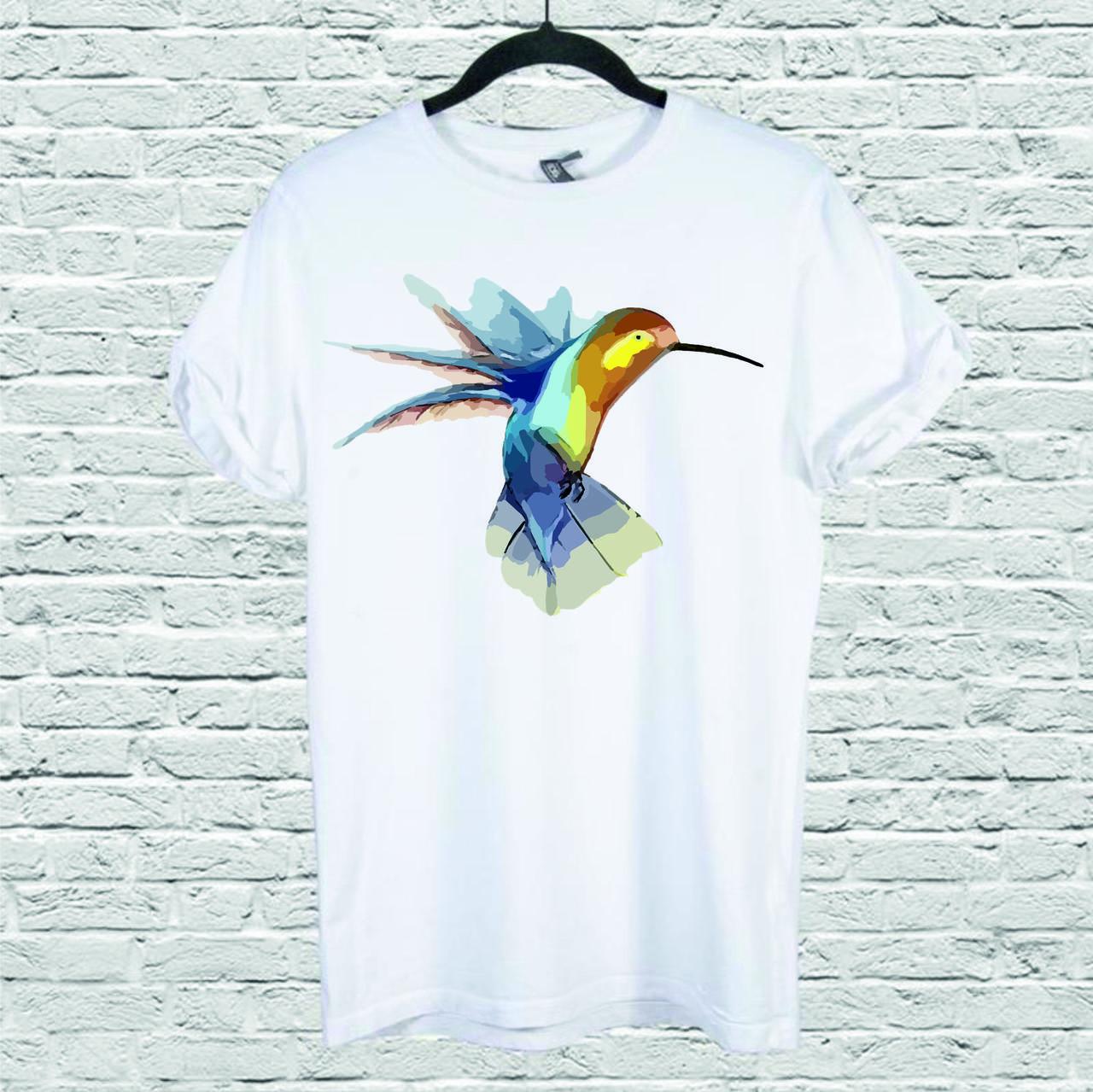 Футболка YOUstyle Hummingbird 0121 M White