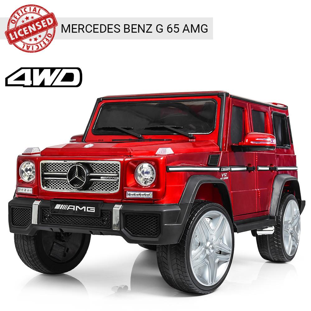Детский электромобиль Джип Mercedes Benz 4WD M 3567EBLRS-3(4WD) красный автопокраска ***
