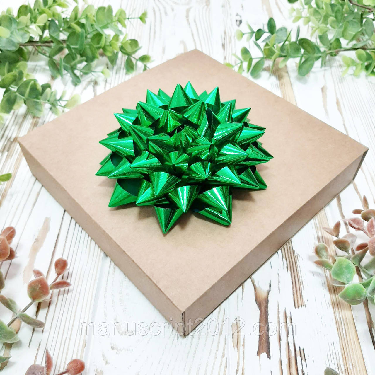 "Декор ""Зірка"" зелена металізована 11 см."