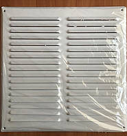 Металлическая вентиляционная решетка 400х400 мм белая