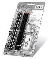 Набор для графики MARCO Raffine 7990-BL (5 графитных карандаша, ластик, точилка)