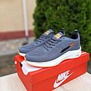 Чоловічі кросівки в стилі Nike Flyknit Lunar 3 сірі з помаранчевим, фото 2