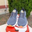 Чоловічі кросівки в стилі Nike Flyknit Lunar 3 сірі з помаранчевим, фото 4