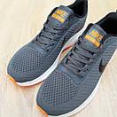 Чоловічі кросівки в стилі Nike Flyknit Lunar 3 сірі з помаранчевим, фото 7