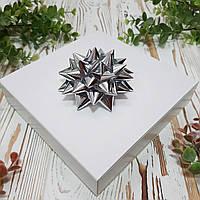 """Декор """"Зірка"""" срібна металізована 9 см."""