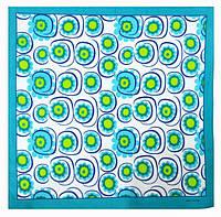Оригинальная хлопковая бандана, цветы, 55*55 см, голубой, фото 1