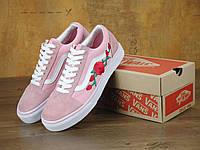Женские кеды Vans Old Skool Art Pink Rose (Ванс Олд Скул Розы)