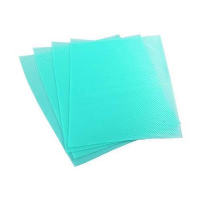 Антибактериальные коврики для холодильника 4 шт., голубой
