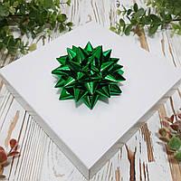 "Декор ""Зірка"" зелена металізована 9 см."