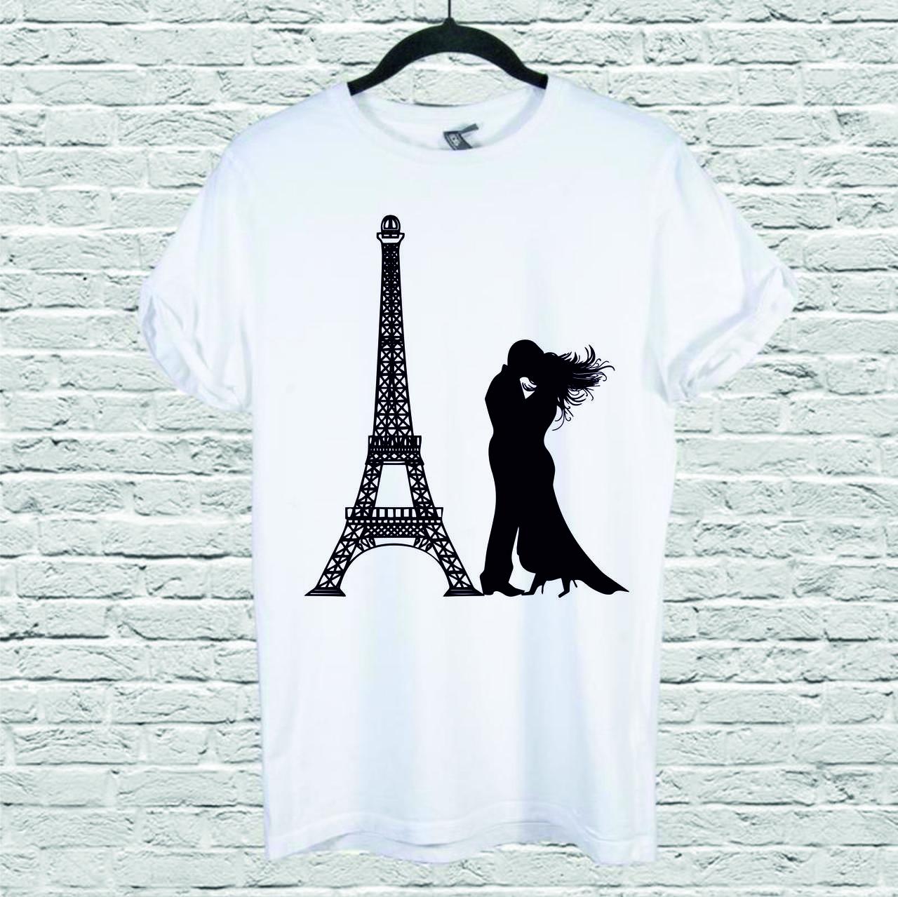 Футболка YOUstyle Paris-art 0124 M White