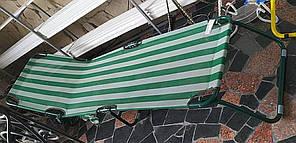 """Розкладачка """"Діагональ"""" д.22мм (зелено-біла смуга)"""