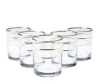 Набор стаканов для виски 6 штук, декорированных под золото 250мл LIBERTY ArtCraft