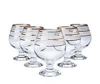 Набор бокалов для бренди декорированных под золото 390мл ArtCraft