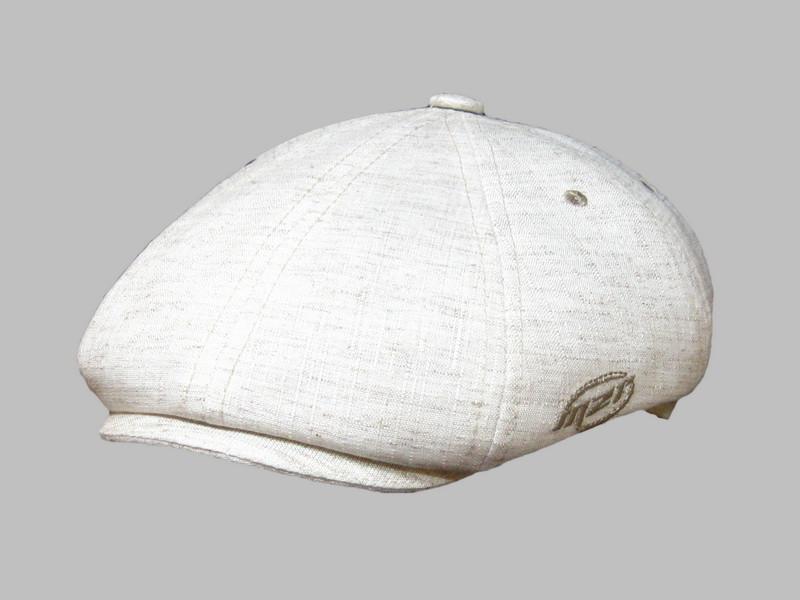 Мужская кепка хулиганка лен  56 57 58 59 60 цвет молочный
