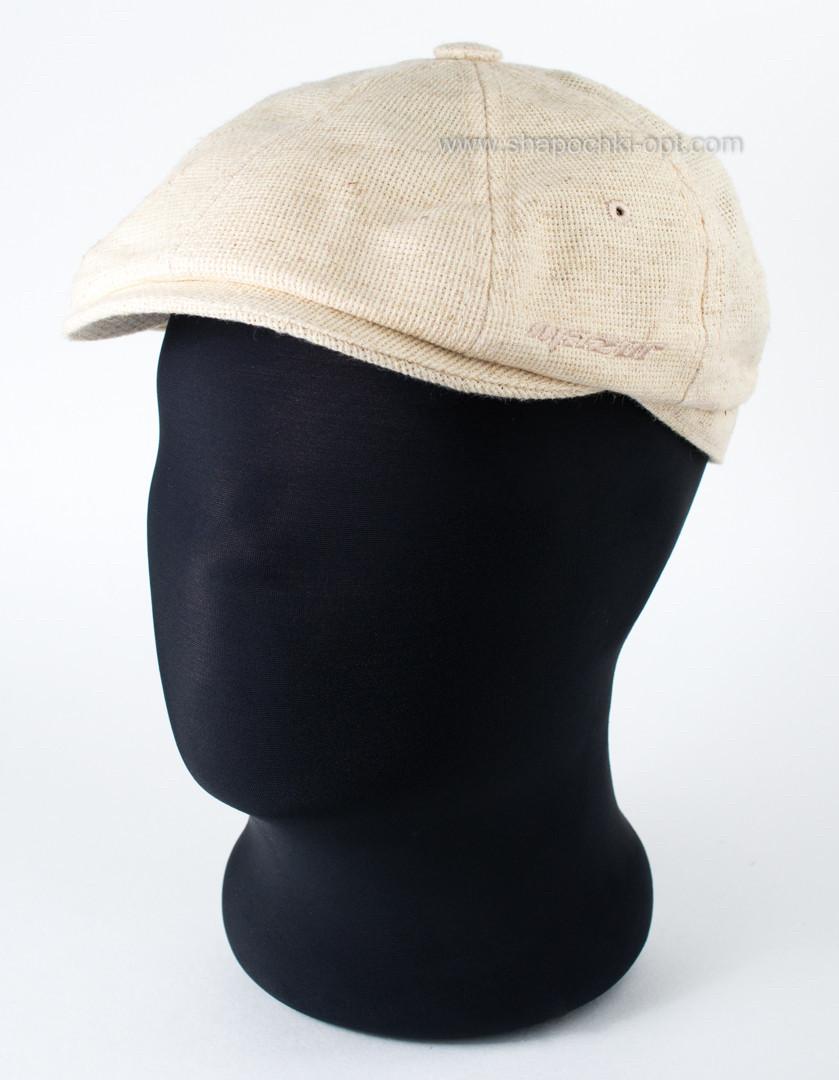 Мужская кепка  восьмиклинка   из канвы  56 57 59 60 цвет песочный