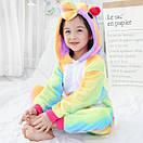 Детское кигуруми радужный единорог 100 см, фото 3