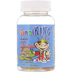 GummiKing Multi-Vitamin and Mineral, Vegetables, Fruits and Fiber, For Kids, 60 Gummies