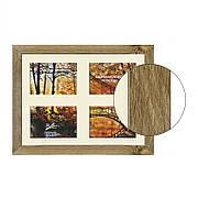 Рамка для 4 фотографий 10х15 см, дуб лефкас