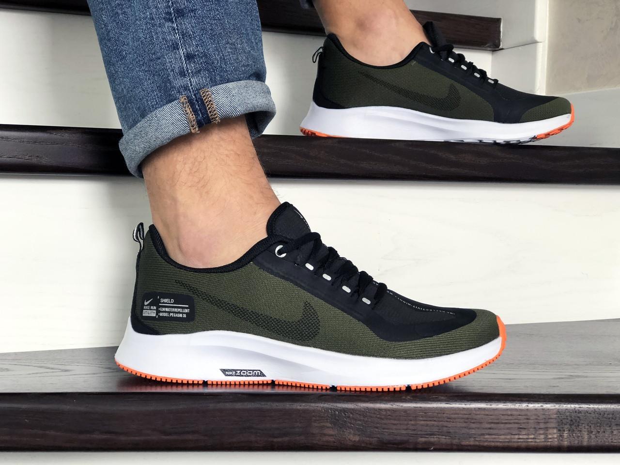 Мужские кроссовки Nike Run Utility, зеленые / кросівки чоловічі Найк (Топ реплика ААА+)