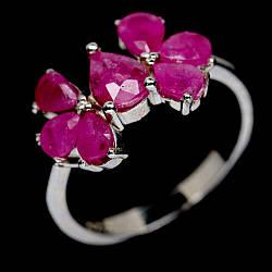 Серебряное кольцо с рубином, 2333КЦР