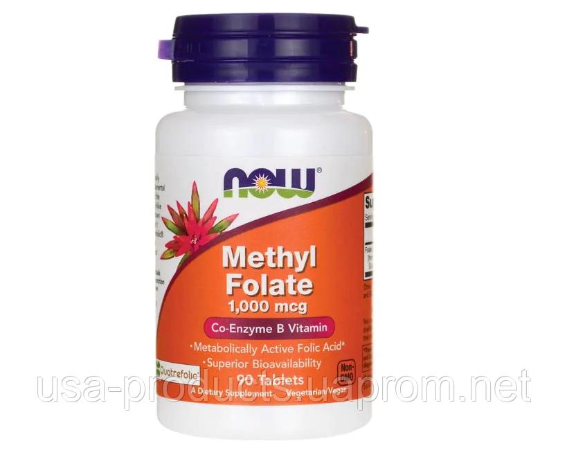 Метилфолат Methyl Folate 1000 мкг 90 таблеток