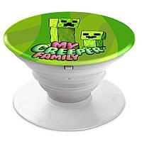 Попсокет (Popsockets) держатель для смартфона Minecraft (Майнкрафт)  (8754-1176)