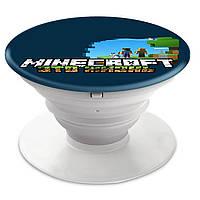 Попсокет (Popsockets) держатель для смартфона Minecraft (Майнкрафт)  (8754-1170)