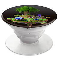 Попсокет (Popsockets) держатель для смартфона Minecraft (Майнкрафт)  (8754-1177)