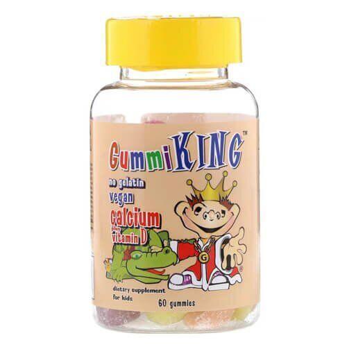 GummiKing Calcium Plus Vitamin D for Kids, 60 Gummies