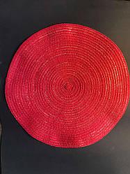 Подтарельник, сервірувальний килимок під тарілки і прилади Ажур 38 см Червоний