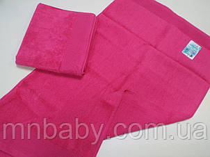 Полотенце махровое 50*90 см розовое