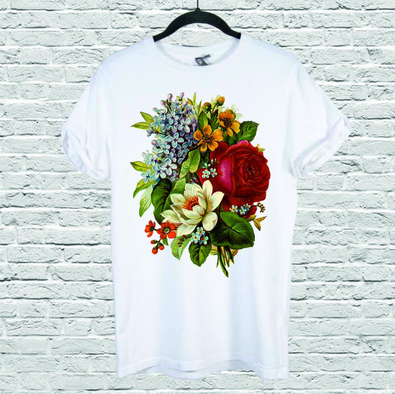 Футболка YOUstyle Flower_Vintage 0142 S White