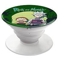 Попсокет (Popsockets) держатель для смартфона Rick and Morty (Рик и Морти)  (8754-1238)