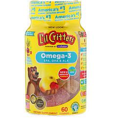 L il Critters Omega-3, Raspberry-Lemonade Flavors, 60 Gummies