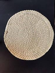 Подтарельник, сервірувальний килимок під тарілки і прилади В'язь 38 см Пісочний