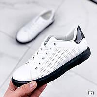 Кроссовки женские Viss белый + черный 1171