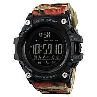 Skmei 1227 красный камуфляж мужские спортивные смарт часы