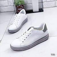 Кроссовки женские Viss белый + серый 1186