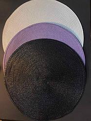 Подтарельник, сервірувальний килимок під тарілки і прилади Простий 38 см