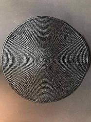 Подтарельник, сервировочный коврик под тарелки и приборы Простой 38 см Черный