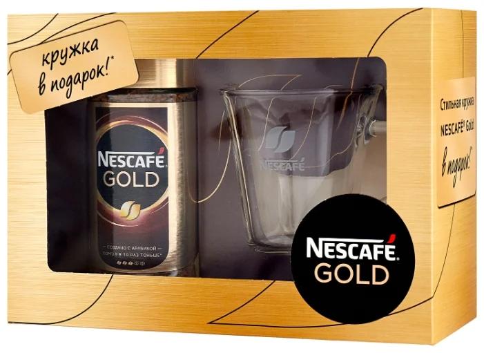 Набір кави Нескафе Голд 100 грамів з чашкою в подарунок