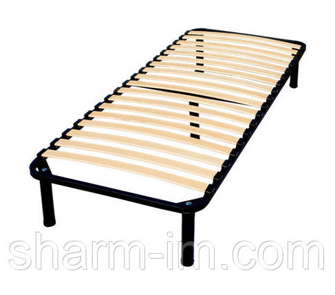 Ламелевый каркас кровати 190х90 см xхxl (2,5 см между ламелями) с ножками, фото 2