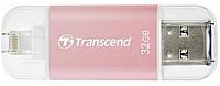 Флеш-накопичувач Transcend JetDrive Go 300 Lightning / USB 3.1 32GB Рожевий